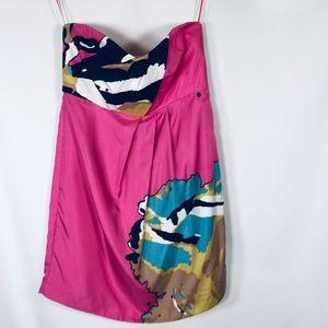Tibi Silk Dress Womens Size 8 Pink NEW !